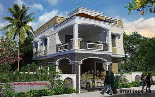 Front Elevation Weather Proof Tiles Service Provider From Chennai House Elevation Indian