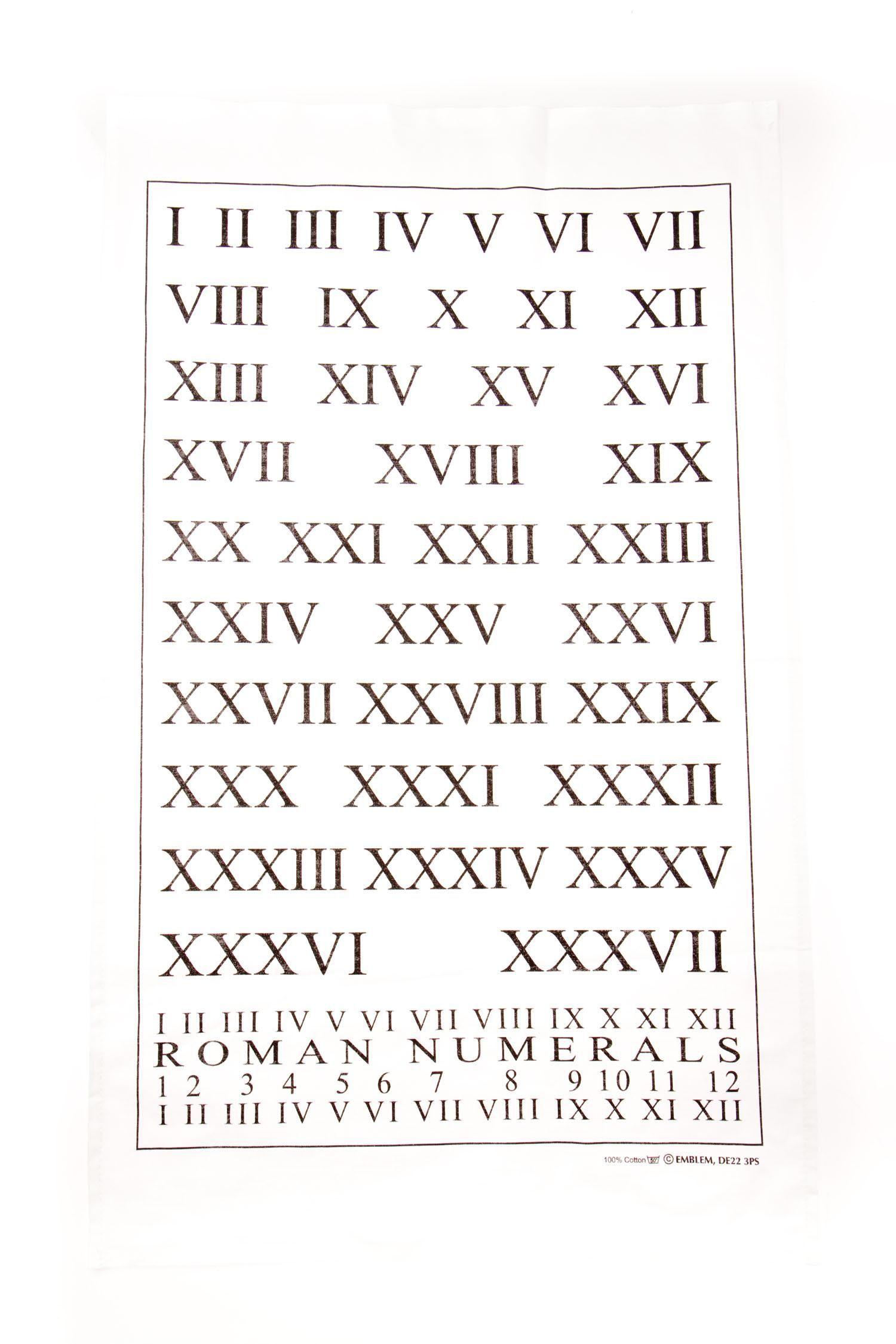 Oxford University roman numerals tea towel    Incredible   Tea