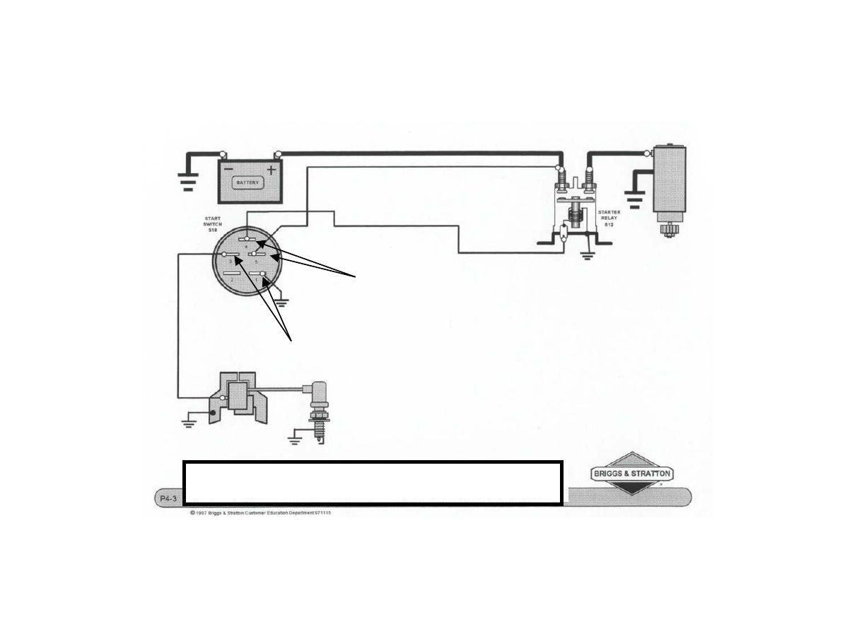 ignition_wiring basic wiring diagram briggs & stratton | briggs & stratton,  diagram, stratton  pinterest
