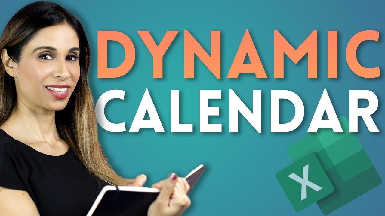 Excel Calendar with one Formula!