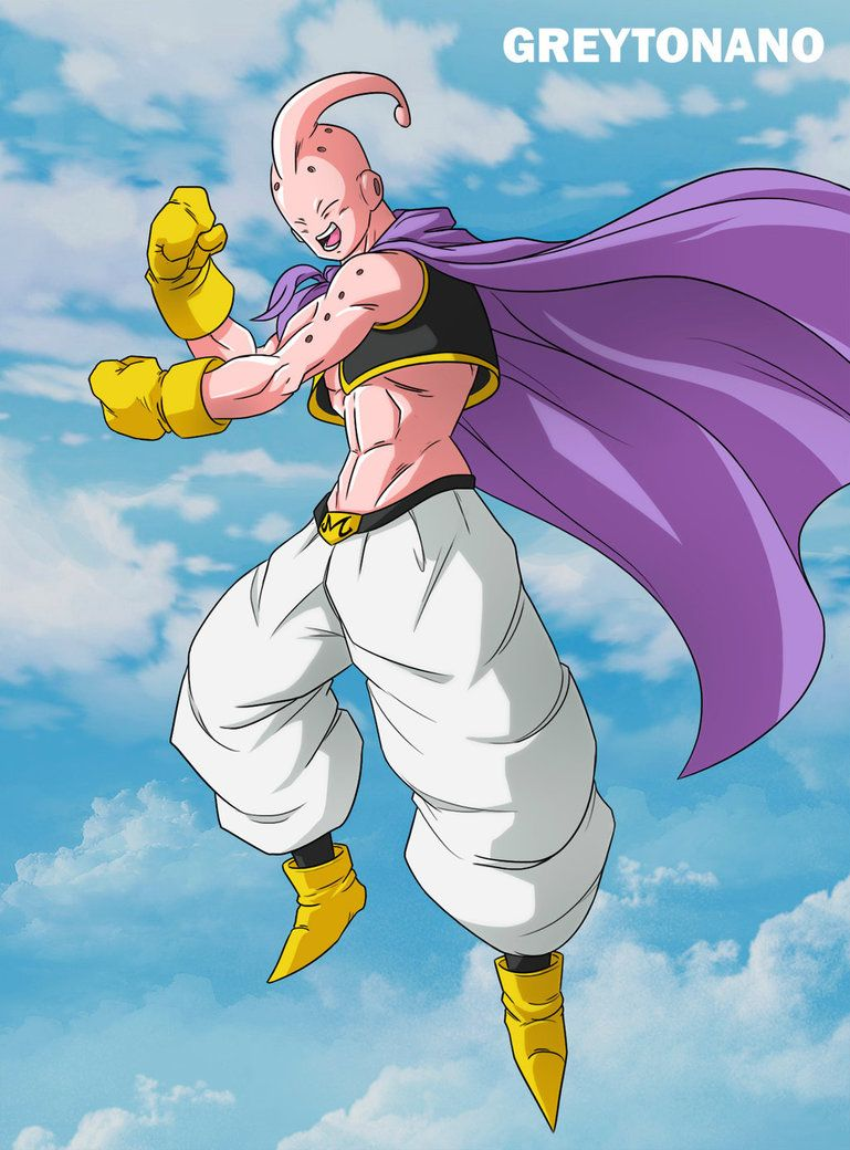 Skinny Majin Boo By Greytonano Deviantart Com On Deviantart Dragon Ball Art Dragon Ball Image Dragon Ball Z