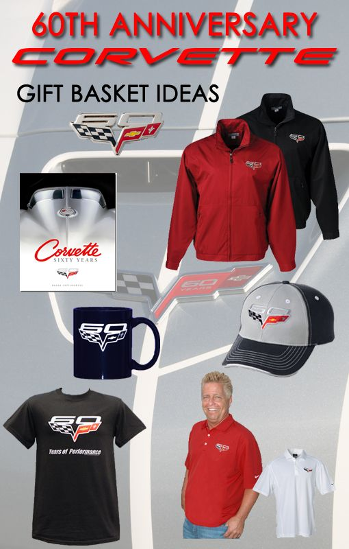 Gift Basket Ideas - 60th Anniversary Corvette   To view and order, visit:  http://store.corvettemuseum.com/SearchResult.aspx?CategoryID=171