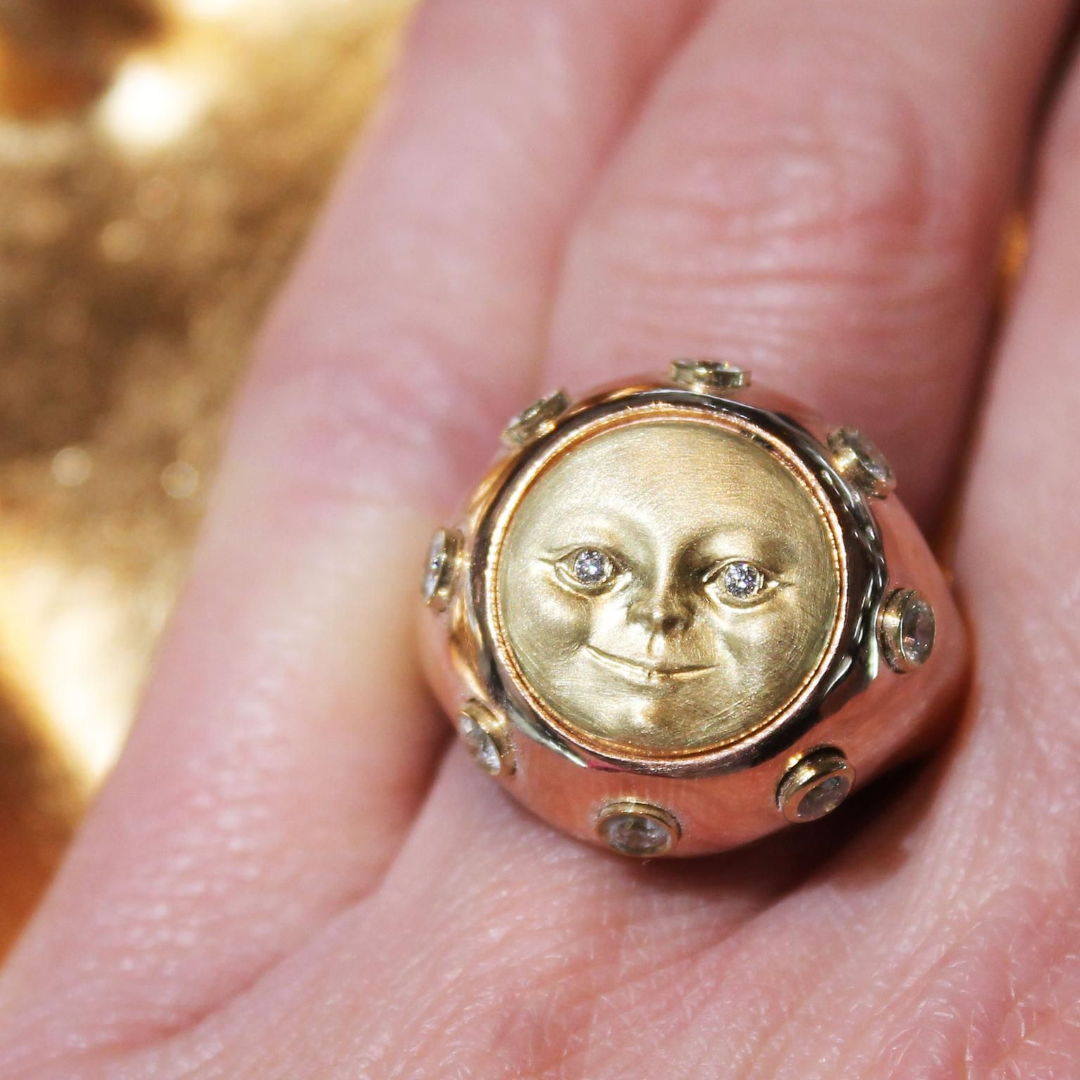 Moonface gold signet ring | Moon face, Couture and Ring