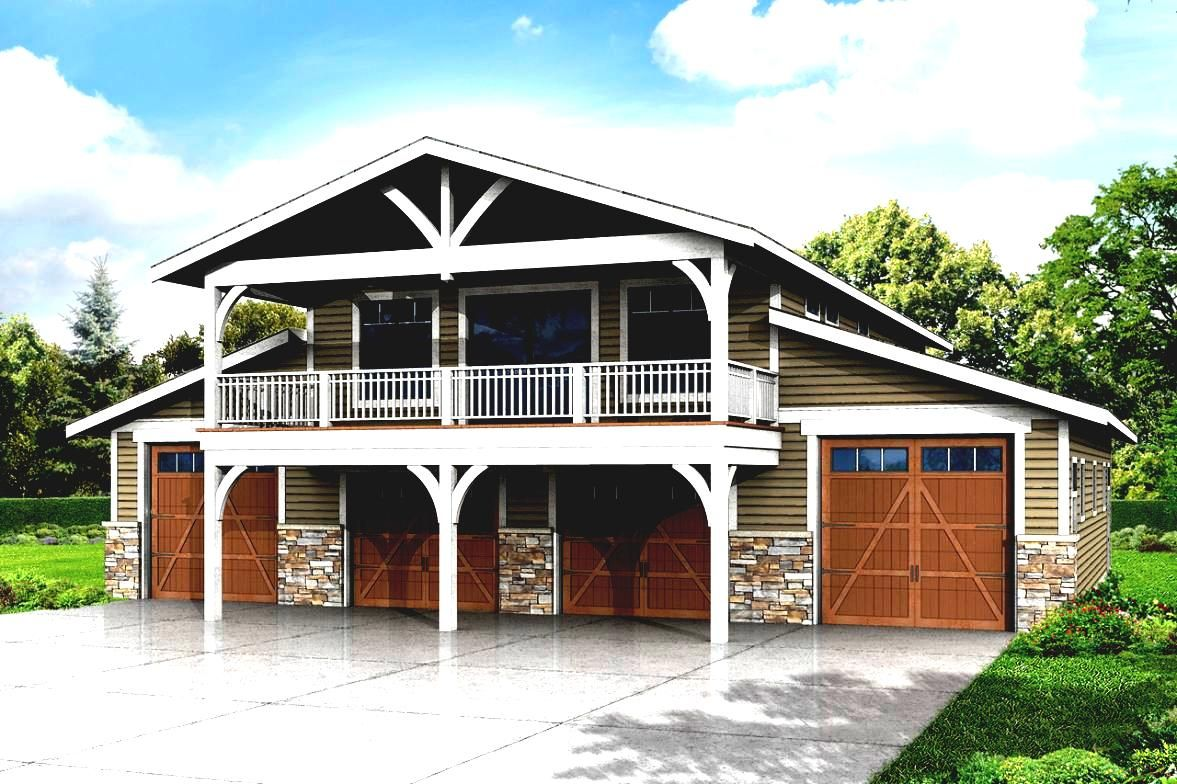 barn garages with loft | Apartment Plans Two Story Garage ...