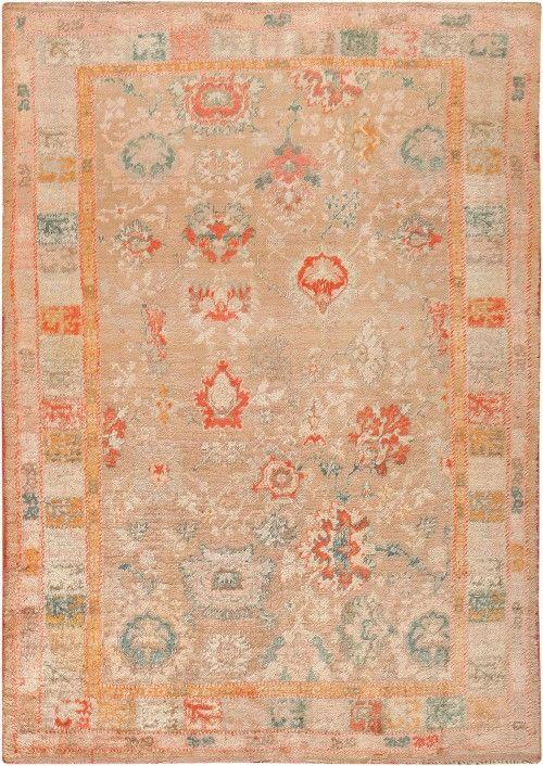 Rare Antique Angora Oushak Rug 47651 Nazmiyal Carpets Antique Oushak Antique Oushak Rugs Rugs On Carpet