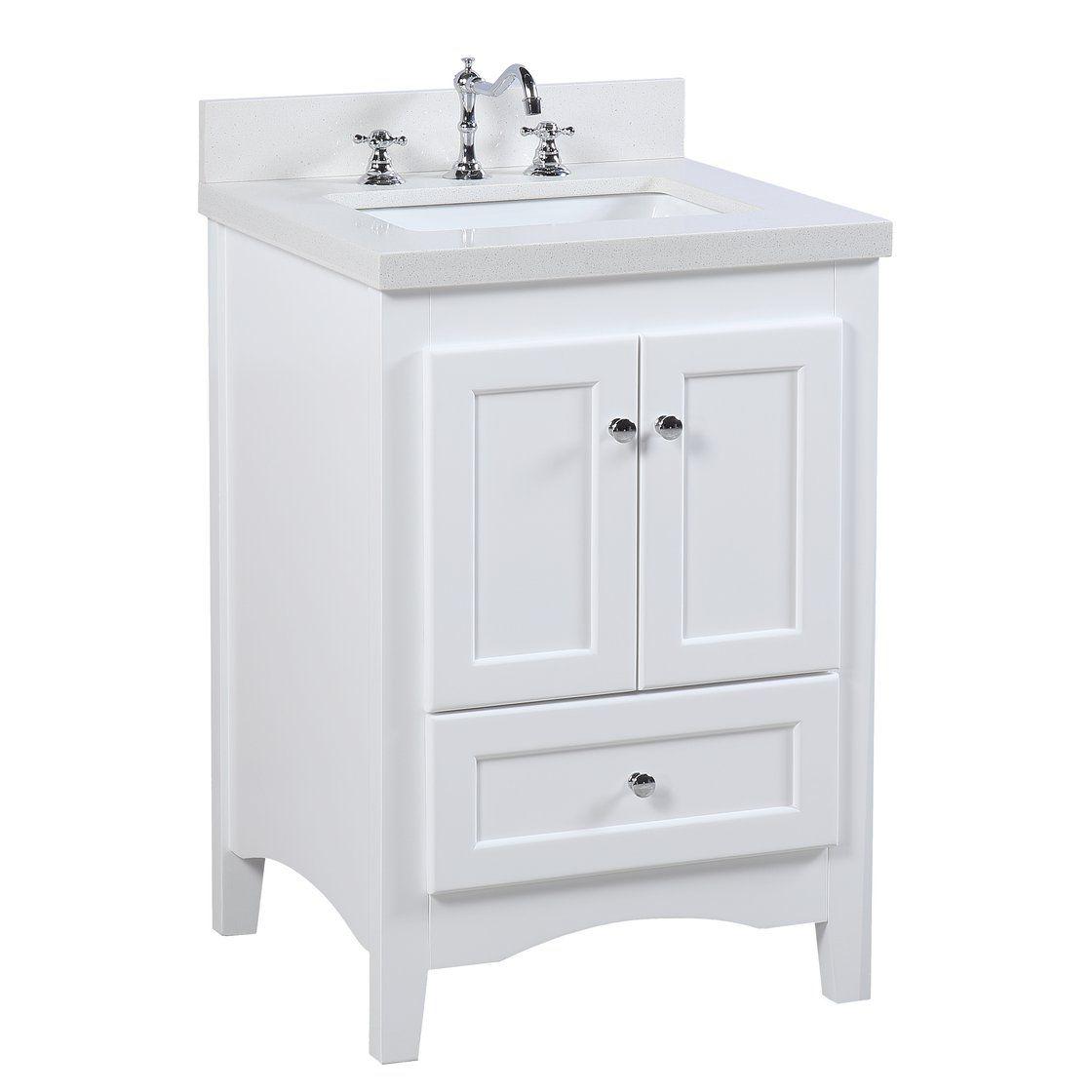 Abbey 24 Inch Vanity With Quartz Top Single Bathroom Vanity Bathroom Vanity 24 Inch Bathroom Vanity
