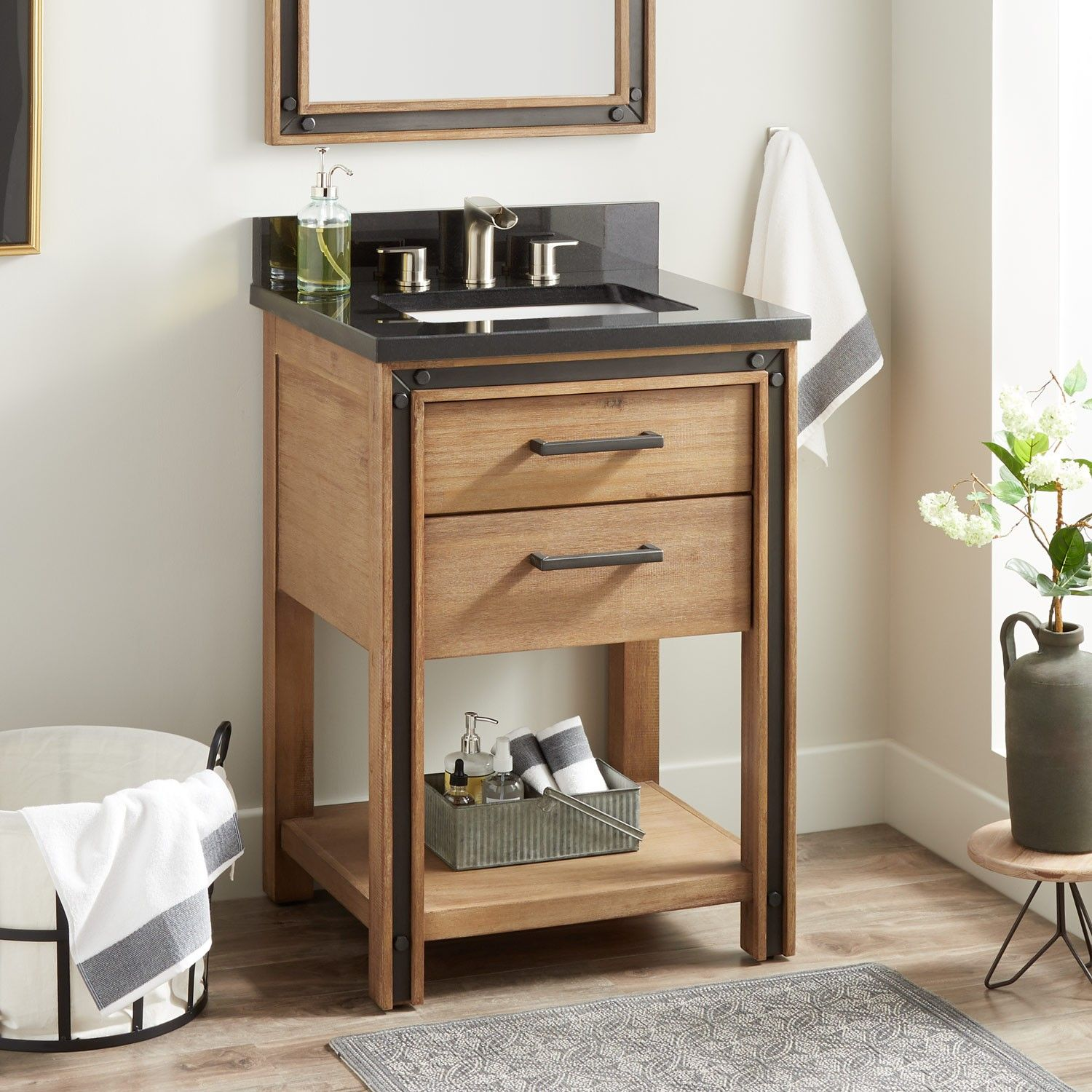 "24"" celebration console vanity for rectangular undermount"