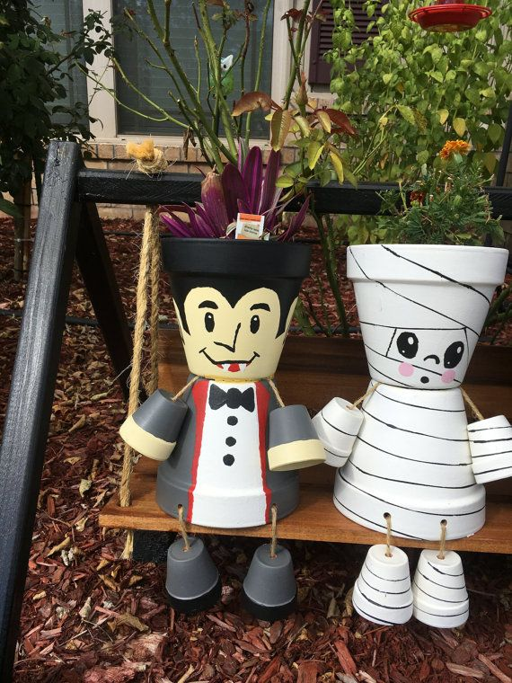 Misfit Vampire (Dracula) Flower pot by MisfitGardens on Etsy