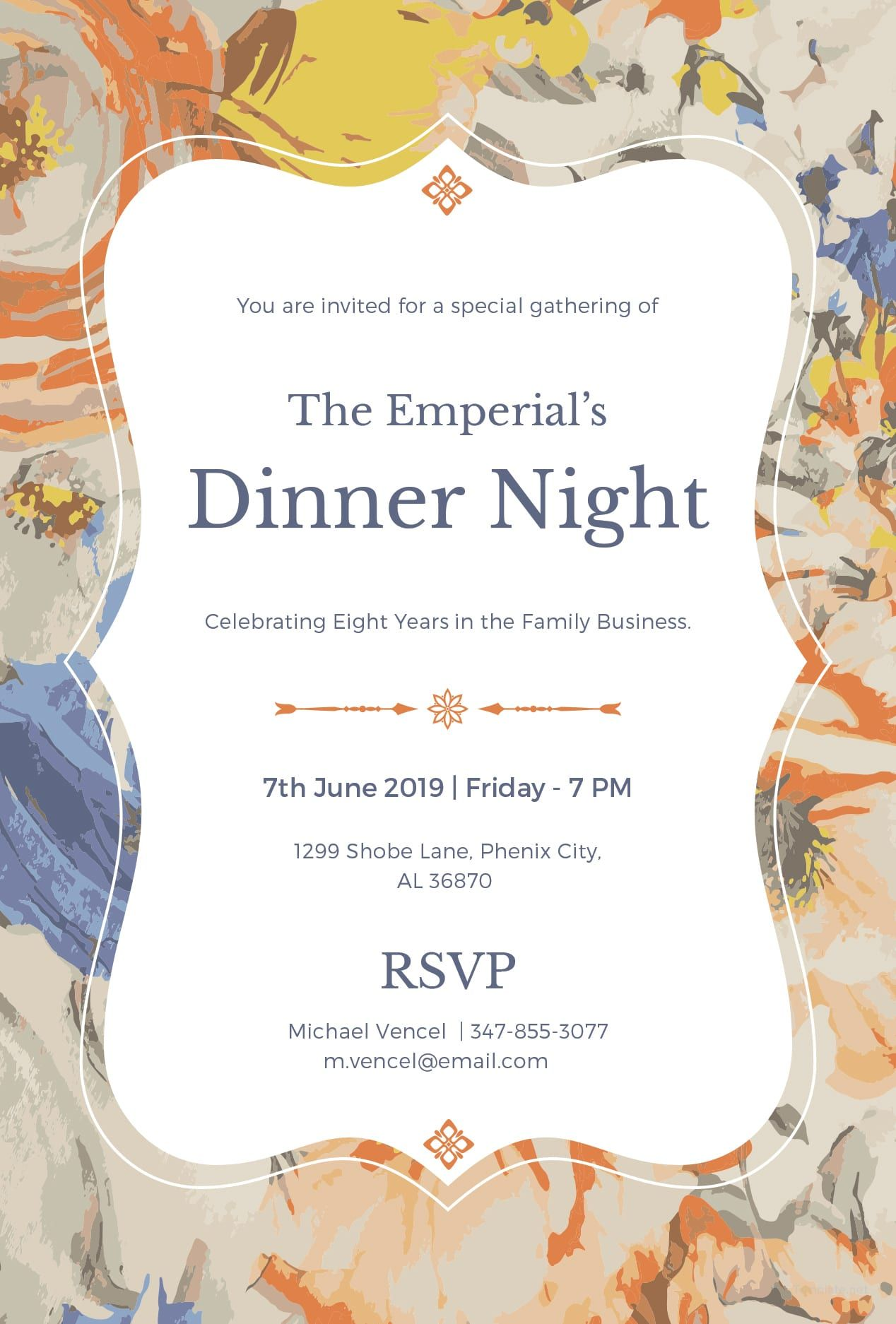Formal Dinner Invitation  Dinner invitation wording, Dinner party