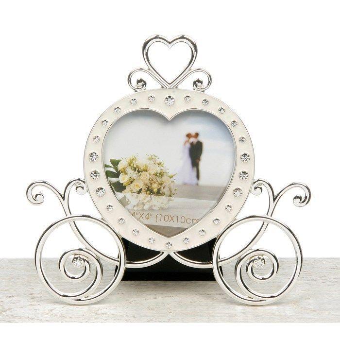 20396 Ivory Wedding Coach Diamante Photo Picture Frame Cinderella