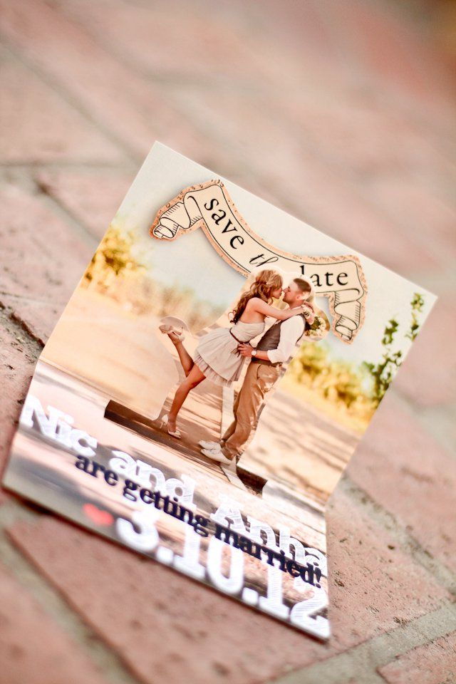 Pop-up save the date. LOVE this!