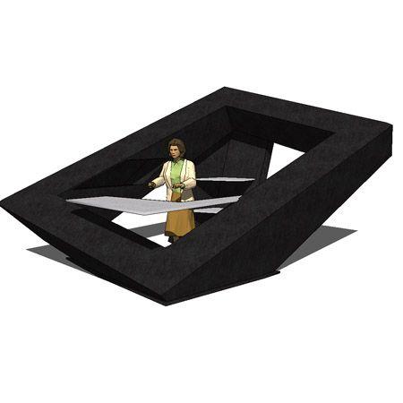 Reception desk stola 3D Model - FormFonts 3D Models