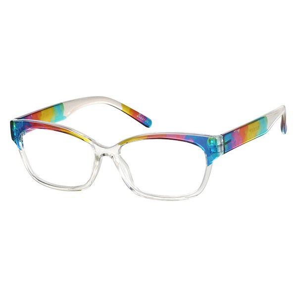ad12084259 Zenni Womens Cat-Eye Prescription Eyeglasses Multicolor TR 2023729 ...