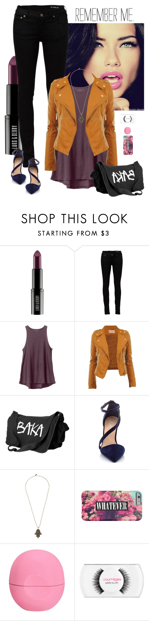 """Remember Me?"" by candybrain ❤ liked on Polyvore featuring Lord & Berry, Yves Saint Laurent, RVCA, Vanessa Mooney, Eos and Estée Lauder"