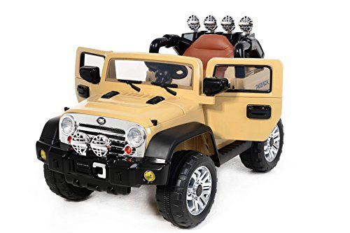 rancher khaki kinder elektroauto kinderauto 2x motor. Black Bedroom Furniture Sets. Home Design Ideas