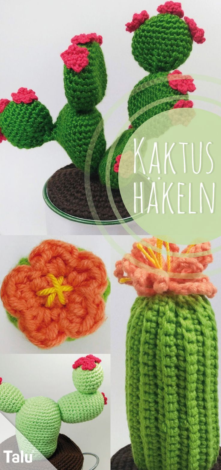 Kaktus häkeln - Anleitung für einen Häkelkaktus #flowerfabric
