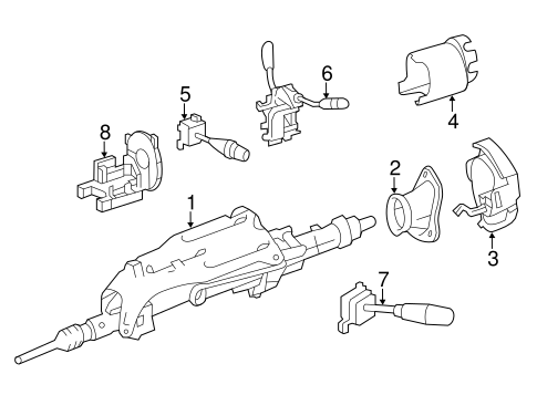 Steeringsteering Column Assembly For 2006 Mercedes Benz R 350 1