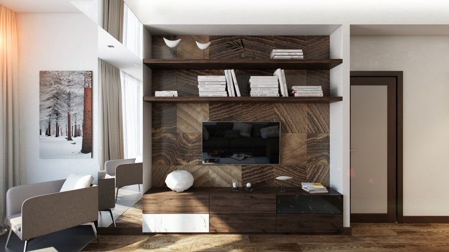 Modern Home Interior Design Ideas for Your Inspirations : Entertainment Cabinet Furniture Made From Wooden Material Used Modern Design Finished Among Brown Color Decoration Ideas As Home Furniture Inspiration