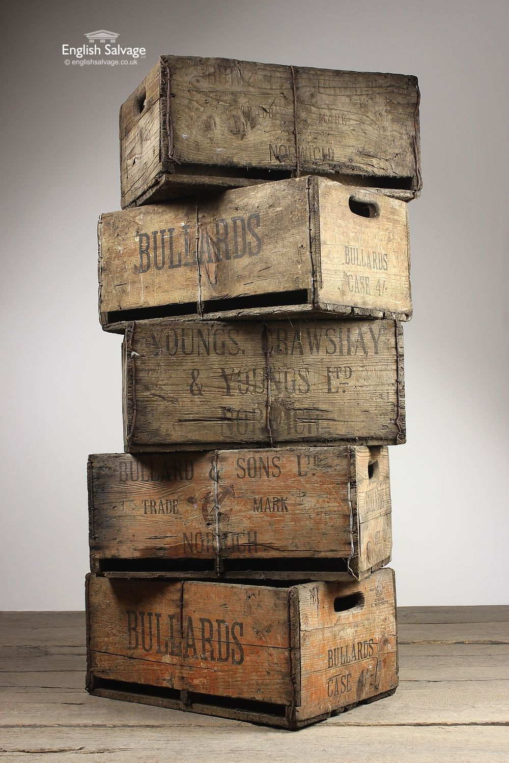 Antique Vintage Drinks Storage Crates Boxes Wine Rack Crates