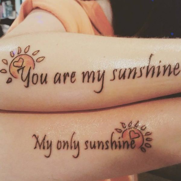 40 Amazing Mother Daughter Tattoo Ideas Tattoos For Daughters Sunshine Tattoo Mom Daughter Tattoos
