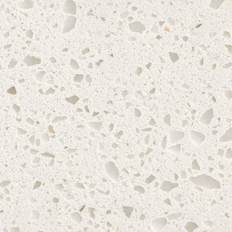 Q Iced White Quartz Countertops Incorporate Soft Shades Of White And Gray.