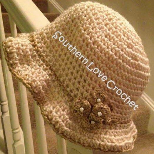 Vintage Cloche Crochet Hats Crochet Hat Pattern Crochet Summer