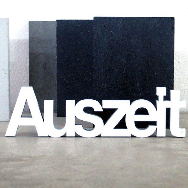 """""""Auszeit"""" Deko Holzschriftzug"""