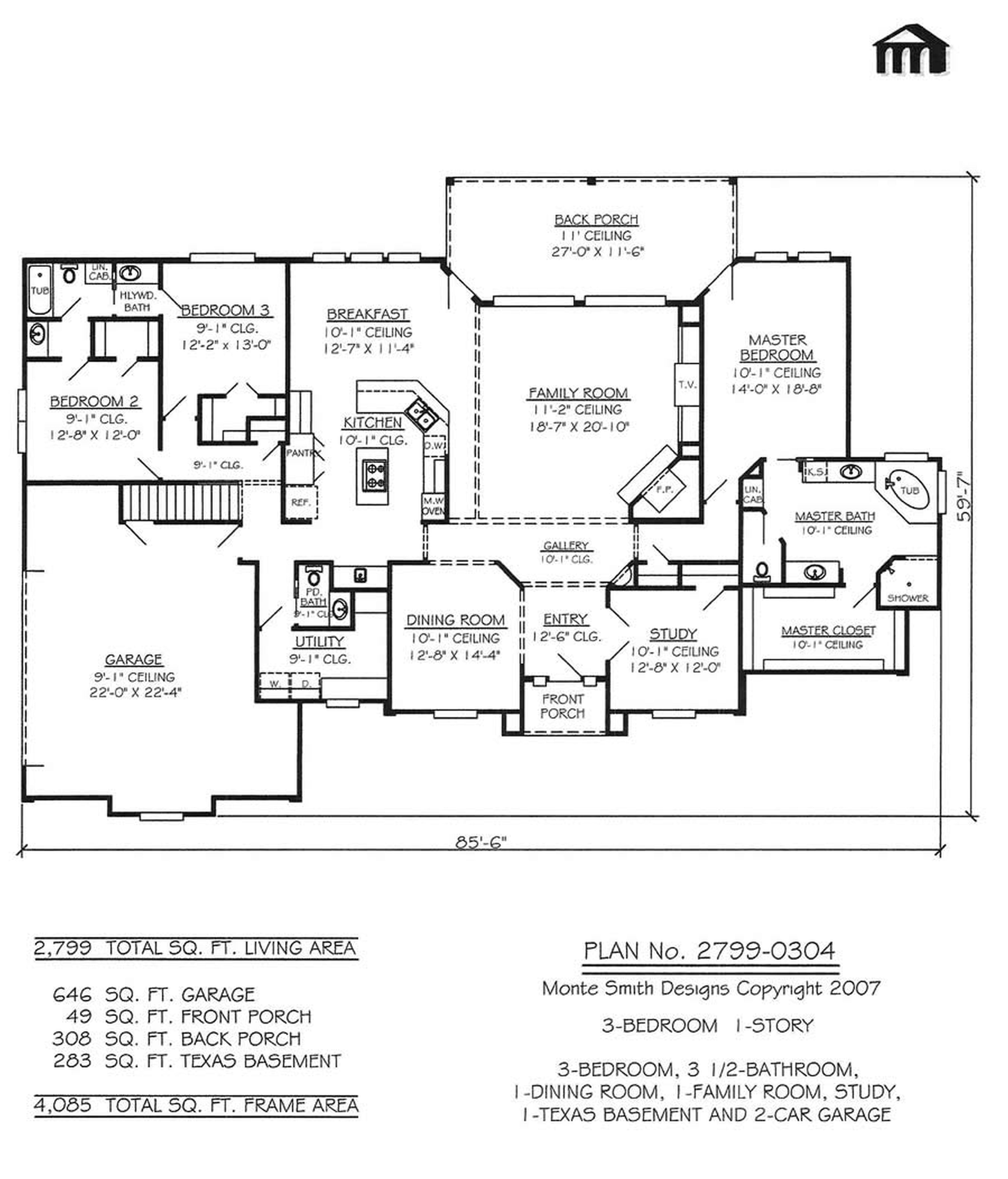 Glamorous 3 Bedroom House Floor Plans With Garage2799 0304 3 Room House Plan Qatmskeb Unique Black White Hous Garage House Plans Garage Floor Plans Floor Plans