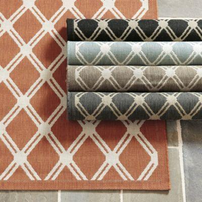 Tricia Trellis Indoor/Outdoor Rug U2013 Rust X U2013 Ballard Designs U2013 Window  Treatment Ideas