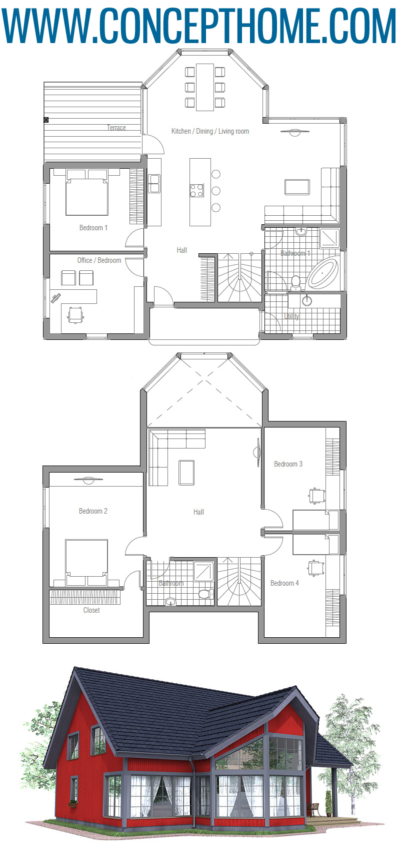 Floor Plan CH90 #apartmentfloorplans