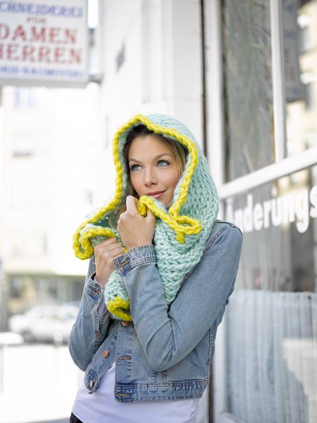 Schals Häkeln Warme Kapuzenschals Für Den Winter Strick Crochet
