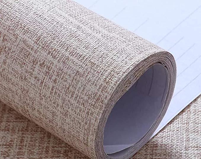 Yancorp Faux Grasscloth Peel Stick Wallpaper Fabric Self