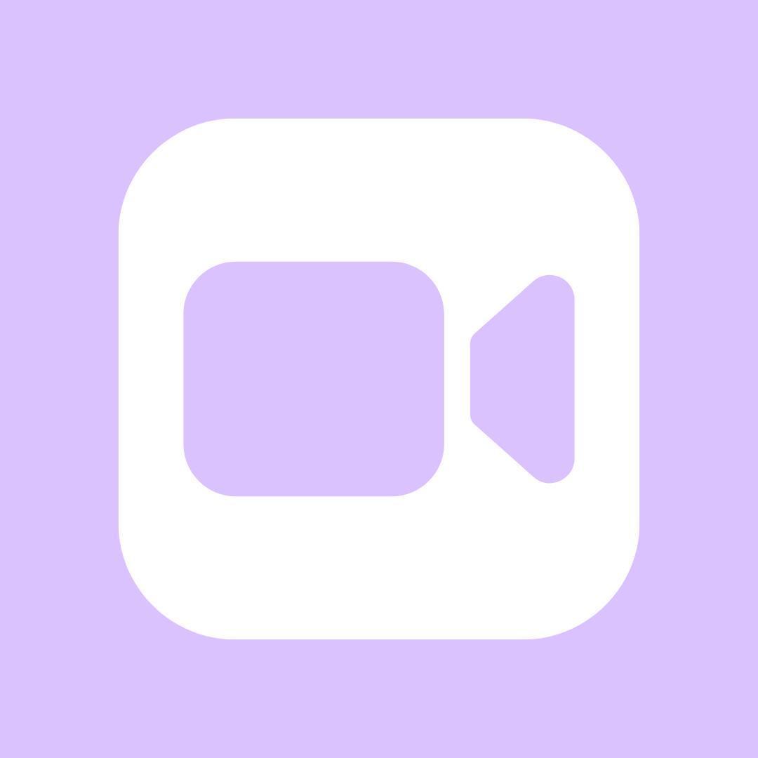 Light Purple Facetime Iphone Photo App Iphone App Design Iphone Wallpaper App