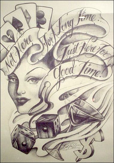 Miami Ink Kat Von D Pictures Photos Tlc Casino Tattoo Tattoo Art Drawings Chicano Drawings