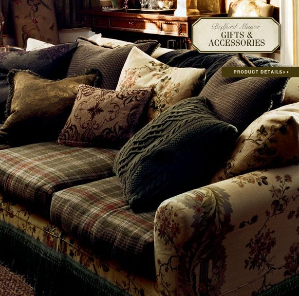 Ralph Lauren Home Bedford Manor Collection 17 Sofa Ralph