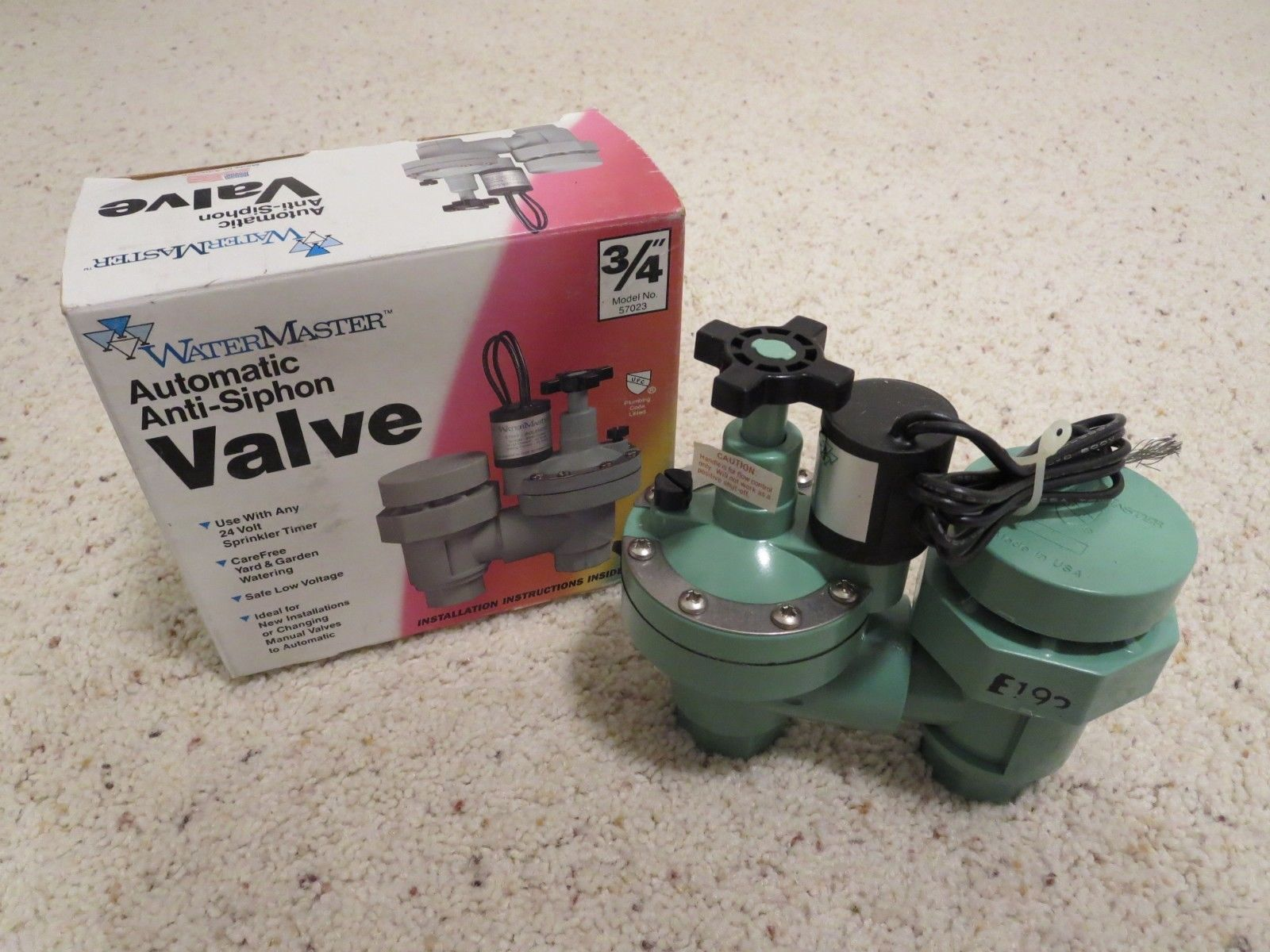 Valves 75673 Watermaster Automatic Anti Siphon Valve 3 4 Model No 57023 Buy It Now Only 29 99 On Ebay Valves Watermaster Automat Valve Siphon Ebay