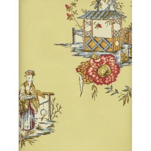 Wallpaper Key Pierre Deux French Country Chinois Cream DPX24311W