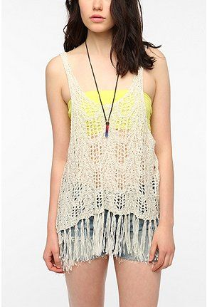 UrbanOutfitters.com > Staring at Stars Crinkle Fringe Tank