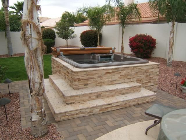 Spa Surrounds by The Yard Company - Services #hottubdeck