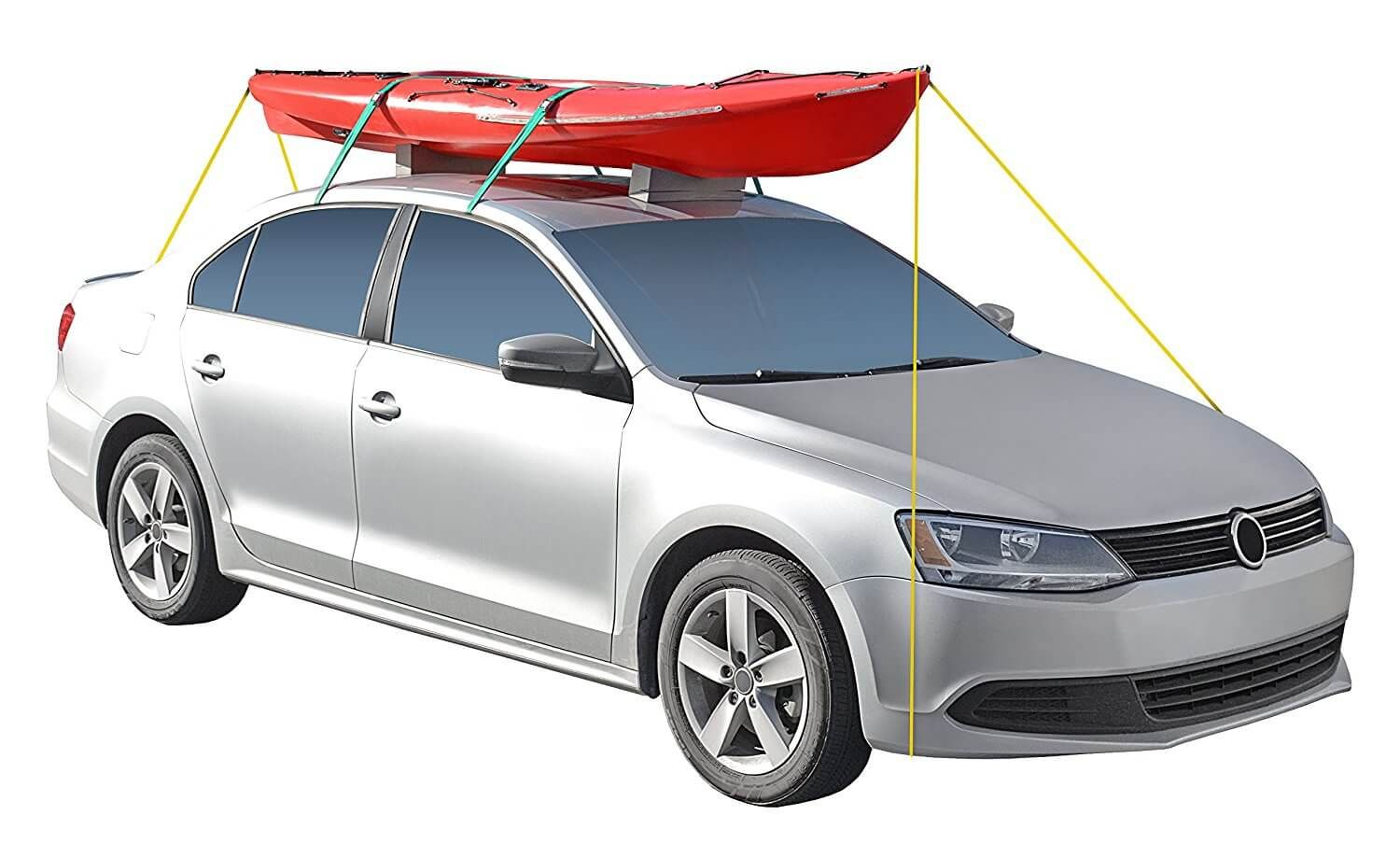 How To Strap Kayak Car Without Roof Rack In 2020 Roof Rack Car Roof Racks Car