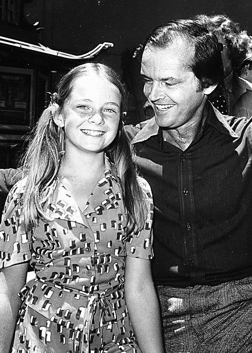 Jack Nicholson with his daughter Jennifer in 1976