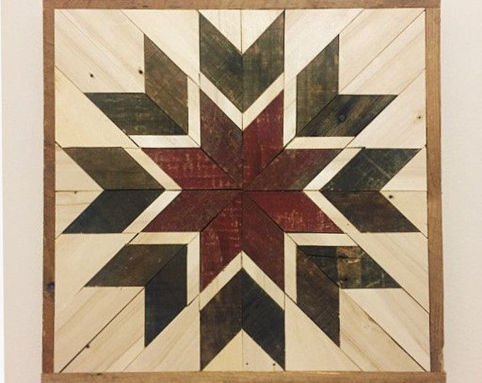 Rustic Wooden Quilt Square Barn Wood Wall Art Woodwork Artistic
