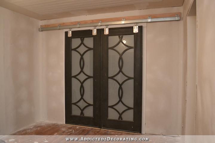 DIY Pocket Door Bookcases \u2013 Finished! & DIY Pocket Door Bookcases \u2013 Finished! | Cheap barn door hardware ...