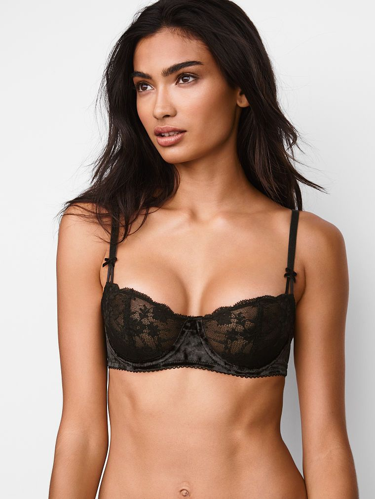 45204eed99 Wicked Velvet-trim Unlined Uplift Bra - Dream Angels - Victoria s Secret