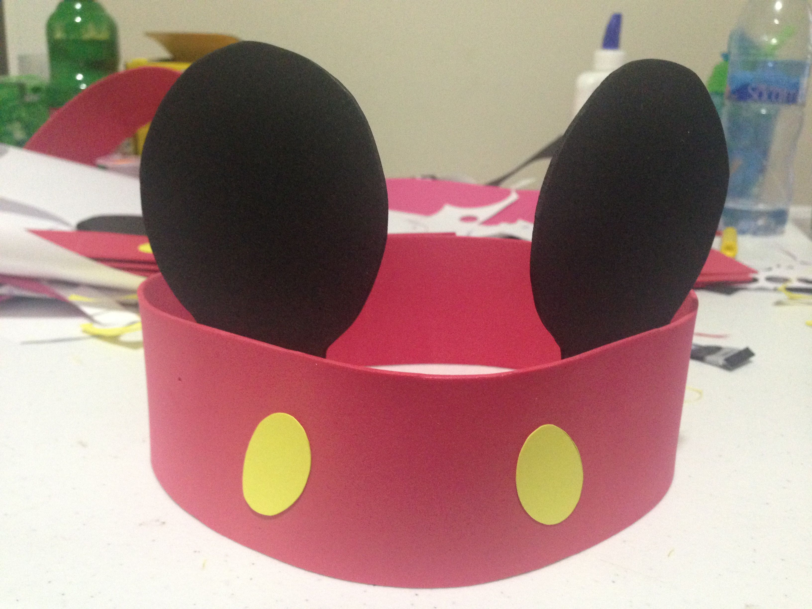 Orejas Mickey Mouse para los invitados chicos