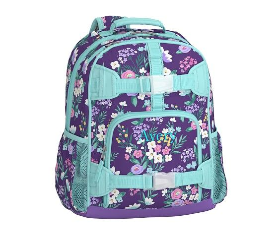 Mackenzie Purple Flower Bouquet Backpack Pottery Barn