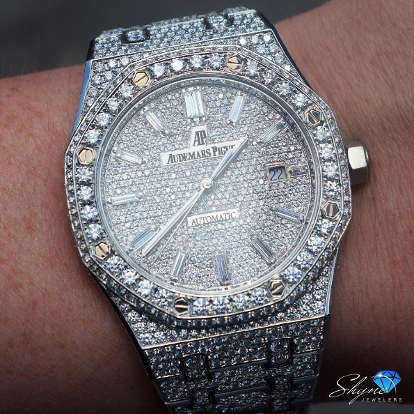 Baguette Markers On The Fully Iced AP 💎 #Shyne