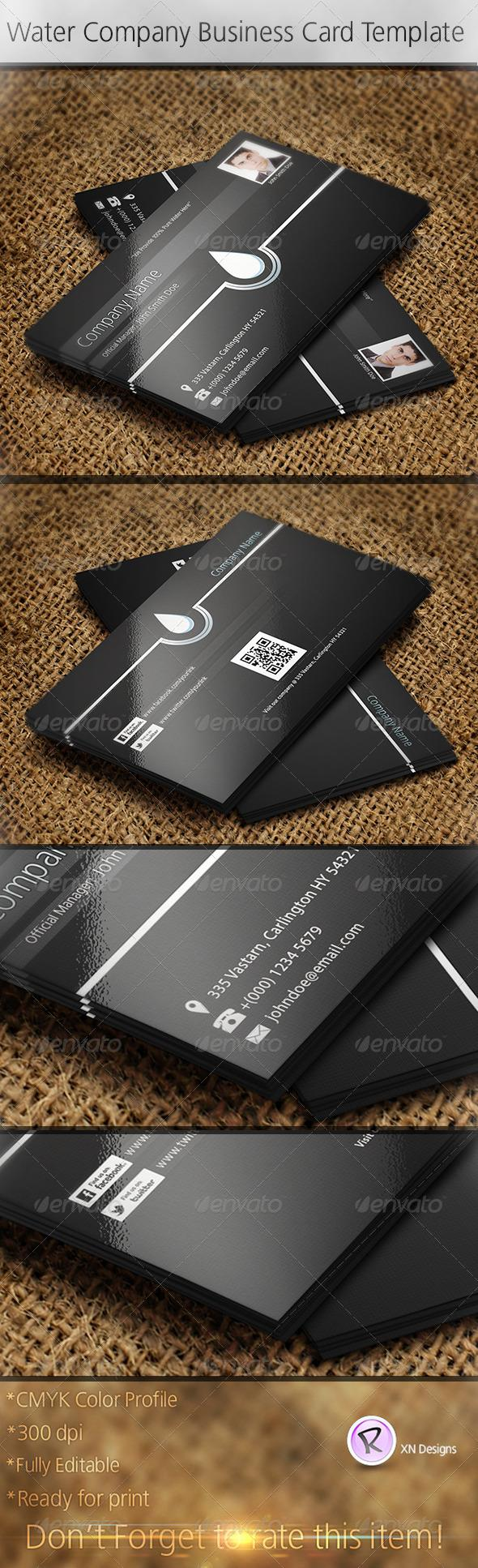 Water company business card template water company card templates buy water company business card template by xndesigns on graphicriver water company business card template features 2 psd files print ready with bleed colourmoves