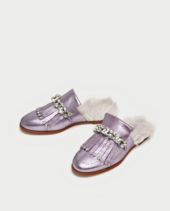 1 Piel Metalizado Zara Zapato Imagen Fairy De Destalonado Pelo TdH4wqxn