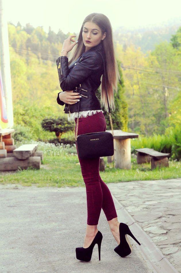 3edbb7c7e6 Styleev - Ewelina Bochnik (PL) Pantalones Vino